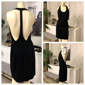 NEW French Connection Bianca Crepe T-Back Dress s6